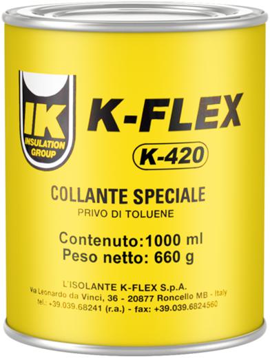 K-Flex K-420 контактный клей на основе полихлоропренового каучука (1 л)