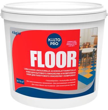 Kiilto Floor клей для бытового линолеума и ковролина (4 кг)