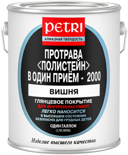 Полиуретановый цветной лак протрава Петри Polystain (3.78 л) светлая сосна