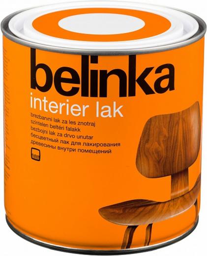 Белинка Interier Lak бесцветный лак для лакирования древесины внутри помещений (750 мл)