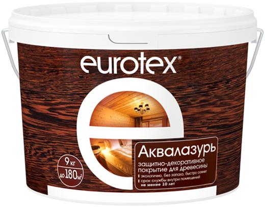 Евротекс Аквалазурь защитно-декоративное покрытие для древесины (2.5 кг) палисандр