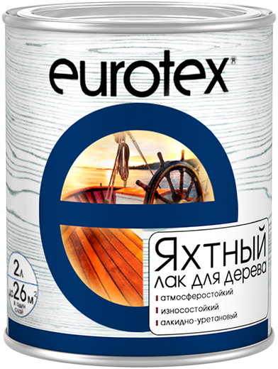 Лак Евротекс Яхтный уретан-алкидный атмосферостойкий 10 л глянцевый