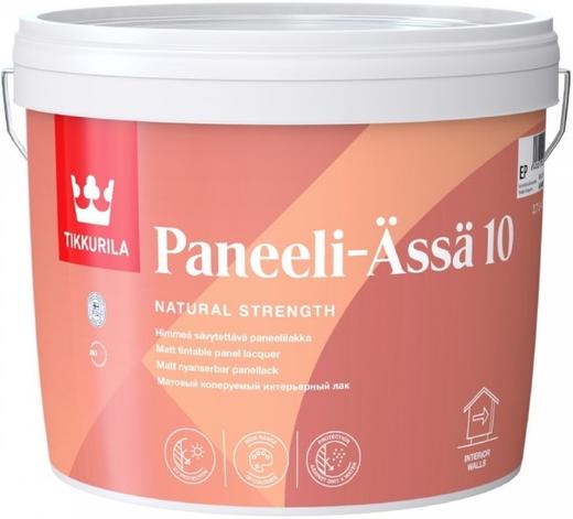 Тиккурила Панели-Ясся 10 интерьерный лак для деревянных панелей матовый (900 мл)