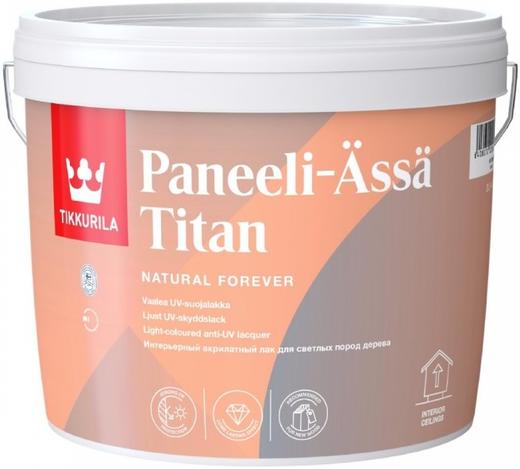 Лак Тиккурила Панели-ясся титан для светлых пород дерева полуматовый 3 л