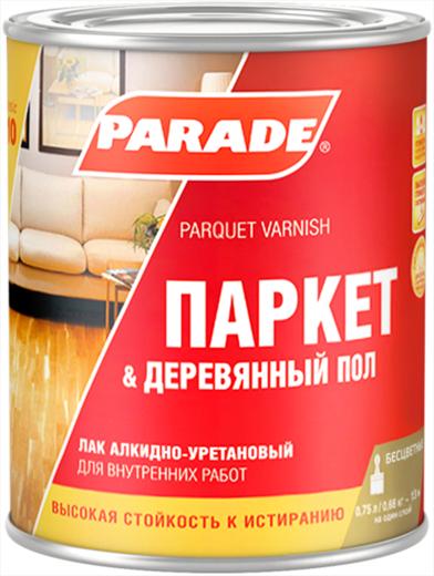 Parade L10 Паркет & Деревянный Пол лак алкидно-уретановый (10 л) полуматовый