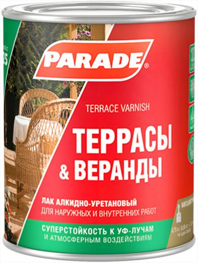 Parade L25 Террасы & Веранды лак алкидно-уретановый (750 мл) матовый