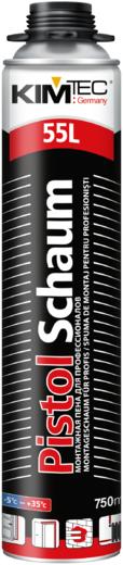 Kim Tec Pistol Schaum High Expanding 101S монтажная пена для профессионалов всесезонная пистолетная (750 мл) пистолетная