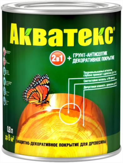 Покрытие Акватекс Защитное текстурное древесины 3 л калужница