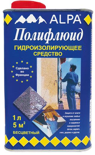 Alpa Полифлюид гидроизолирующее средство (19 л) бесцветное