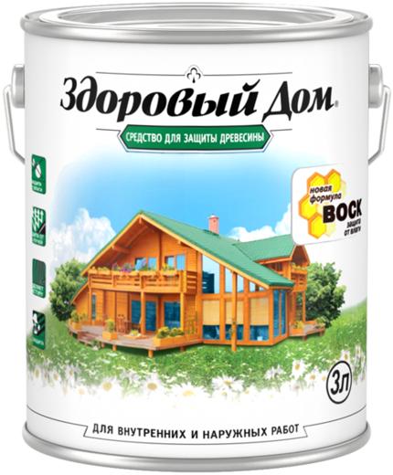 Средство для защиты древесины Здоровый Дом (3 л) рябина