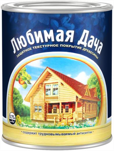 Любимая Дача защитное текстурное покрытие древесины (9 л) орех