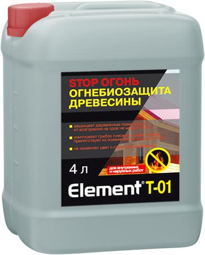 Alpa Element T-01 Stop Огонь огнебиозащита древесины (10 л) бесцветная