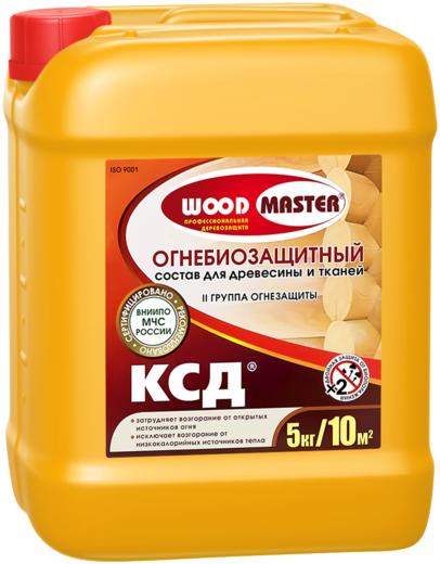 Woodmaster КСД огнебиозащитный состав для древесины и тканей (10 кг) бесцветный