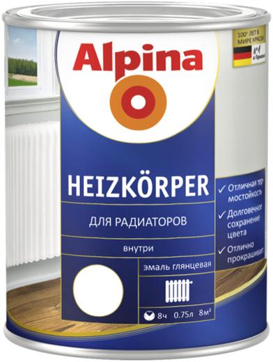 Alpina Heizkorper эмаль для радиаторов (750 мл) белая