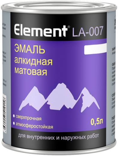 Alpa Element LA-007 эмаль алкидная матовая сверхпрочная атмосферостойкая (500 мл) белая