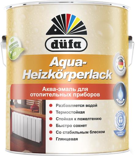 Dufa Aqua-Heizkorperlack аква-эмаль для отопительных приборов (750 мл) белая