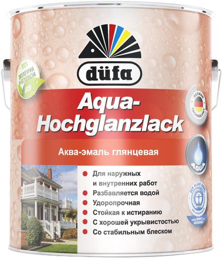 Dufa Aqua-Hochglanzlack аква-эмаль глянцевая (2.5 л) белая