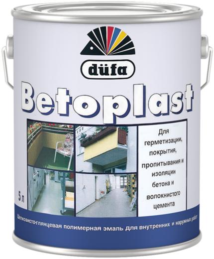 Dufa Betoplast шелковисто-глянцевая полимерная эмаль для внутренних и наружных работ