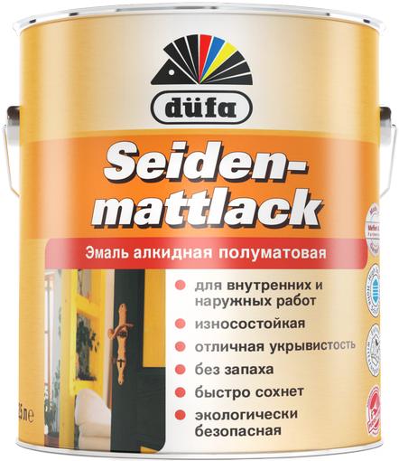 Dufa Seidenmattlack эмаль полуматовая (750 мл) белая