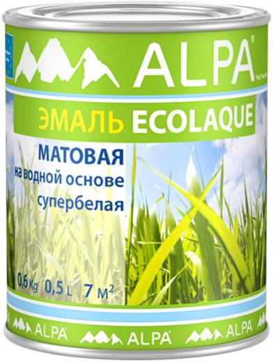 Alpa Ecolaque эмаль на водной основе для окон и дверей супербелая