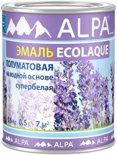 Alpa Ecolaque эмаль для радиаторов отопления супербелая (2.5 л) супербелая