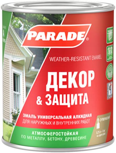 Parade A1 Декор & Защита эмаль универсальная алкидная (2.5 л) супербелая