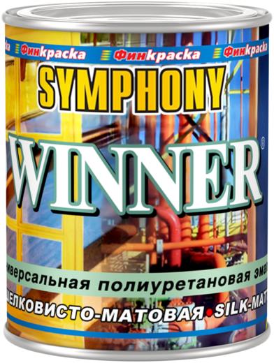 Финкраска Симфония Winner универсальная полиуретановая эмаль антикоррозионная (3 л) бесцветная шелковисто-матовая