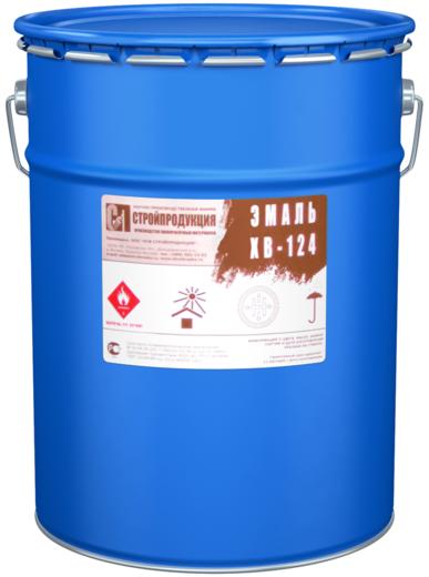 Стройпродукция ХВ-124 эмаль (50 кг) голубая