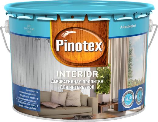 Пропитка Пинотекс Interior декоративная для интерьеров 10 л красное дерево