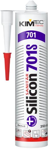 Kim Tec Silicon Sanitar 701S герметик силиконовый санитарный (310 мл) белый
