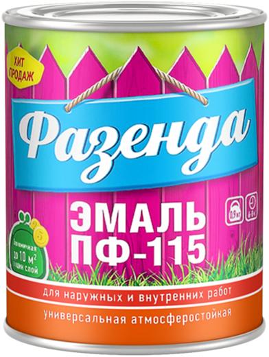 Эмаль универсальная атмосферостойкая Ленинградские краски ПФ-115 Фазенда 2.7 кг белая