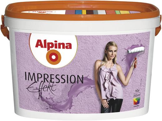 Alpina Impression Effekt дисперсионная масса (10 л) белая ярко выраженные структуры