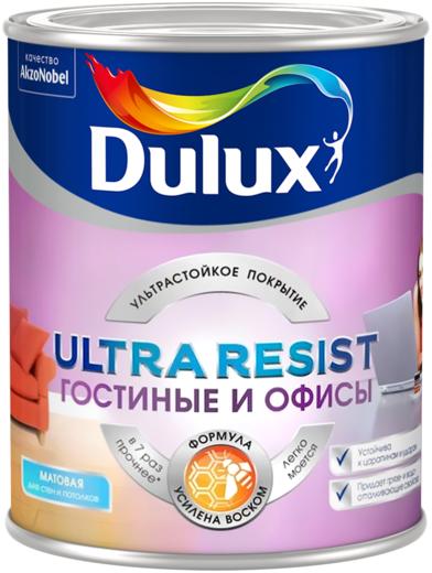 Dulux Ultra Resist Гостиные и Офисы краска для стен и потолков (10 л) белая