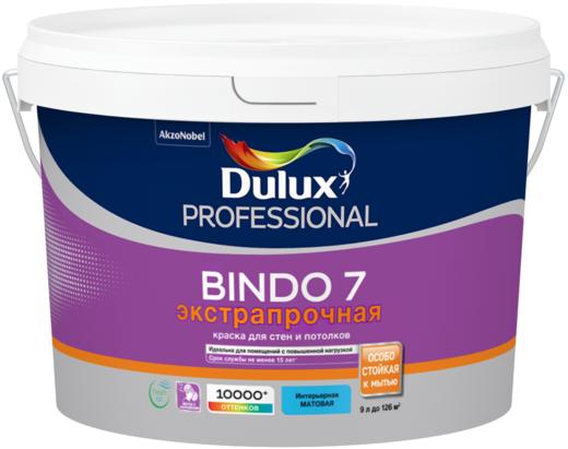 Dulux Professional Bindo 7 Экстрапрочная краска для стен и потолков (9 л) белая