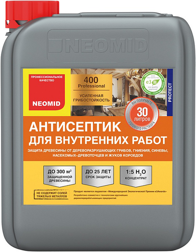 Неомид 400 антисептик для внутренних работ (5 л) бесцветный