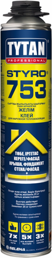 Титан Professional Styro 753 полиуретановый клей для наружной теплоизоляции (750 мл)