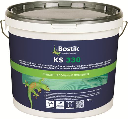 Bostik KS 330 клей сверхпрочный акриловый для напольных покрытий (20 кг)
