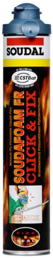Soudal Soudafoam FR Click & Fix огнестойкая полиуретановая пена