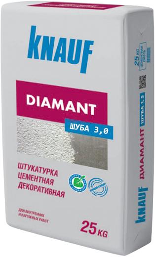 Диамант цементная декоративная 25 кг белая