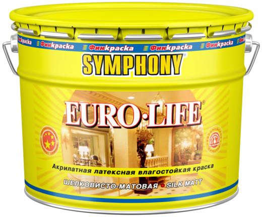 Финкраска Симфония Euro-Life акрилатная латексная влагостойкая краска (10 л) белая