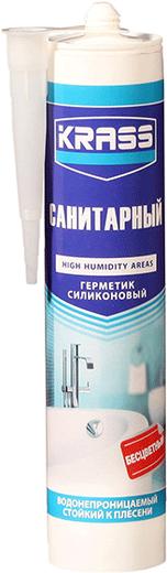 Герметик Krass Санитарный водонепроницаемый стойкий к плесени 300 мл белый
