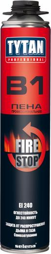 Титан Professional B1 Fire Stop монтажная пена профессиональная огнестойкая (750 мл) пистолетная