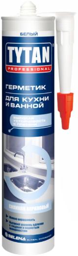 Герметик Титан Professional Kitchen & bath sealant силиконакриловый для кухни и ванной 310 мл белый