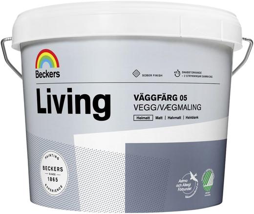 Beckers Elegant Vaggfarg краска для стен (9 л) белая глубокоматовая