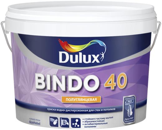 Dulux Professional Bindo 40 водно-дисперсионная краска для стен и потолков (9л) белая
