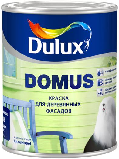 Краска Dulux Domus для деревянных фасадов 900 мл бесцветная