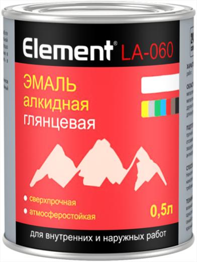 Эмаль Alpa Element la-060 алкидная глянцевая 500 мл коричневая