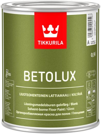 Тиккурила Бетолюкс органоразбавляемая краска для полов глянцевая (9 л) бесцветная
