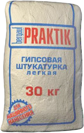 Bergauf Praktik гипсовая штукатурка легкая (30 кг) белая