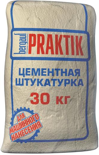 Bergauf Praktik цементная штукатурка для машинного нанесения для наружных работ